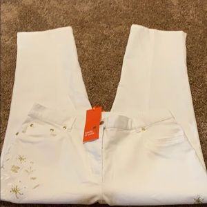 Heart of palm white pants